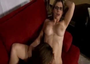 POV incest with a spectacled mom and her daughter